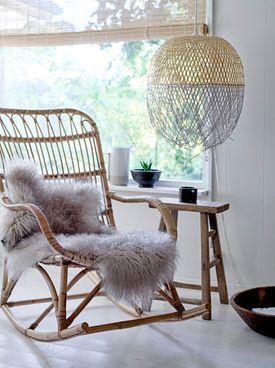 Bloomingville Nanna Rattan-Schaukelstuhl #Sessel #Stuhl #Möbel #Einrichtung #Wohnen #Galaxus