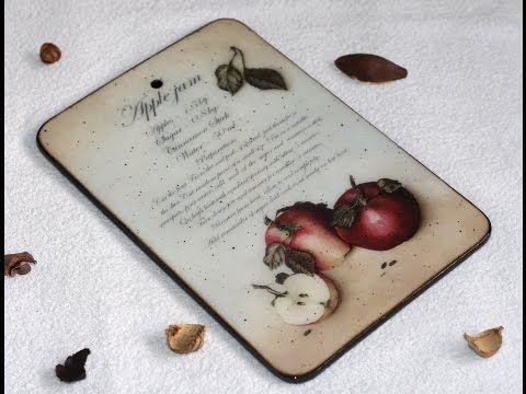 Разделочная доска Яблочный джем Замедлитель высыхания акриловых красок в декупаже Свойства и возмо - YouTube