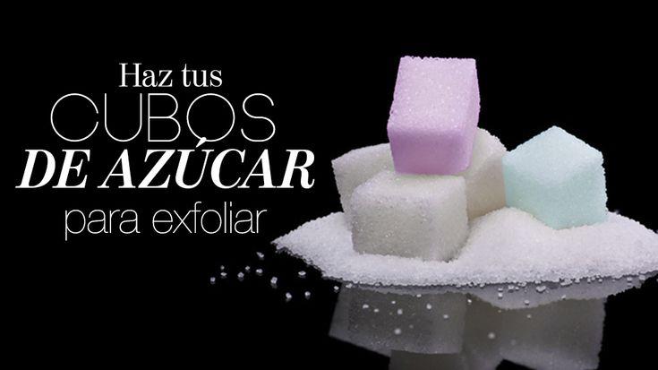 Receta para hacer cubos de azúcar para exfoliar.
