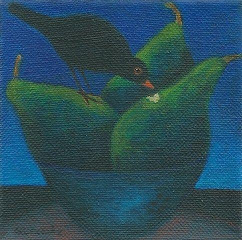 The new pears / De nieuwe peren, acryl op doek 2010, Angela Kuckartz