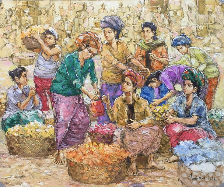 Traditional bali market painting size 100x120cm material acrylic on canvas @bulan ayu painting gallery Instagram : bulanayupaintinggallery Contact Person: tlp: +62361296904|whatsup: +6289690470730|bbm: 5B917FAC|email: bulanayupainting@gmail.com/bulanayupainting@yahoo.com address: Jl.Raya Batu Bulan no.98,gianyar-Bali