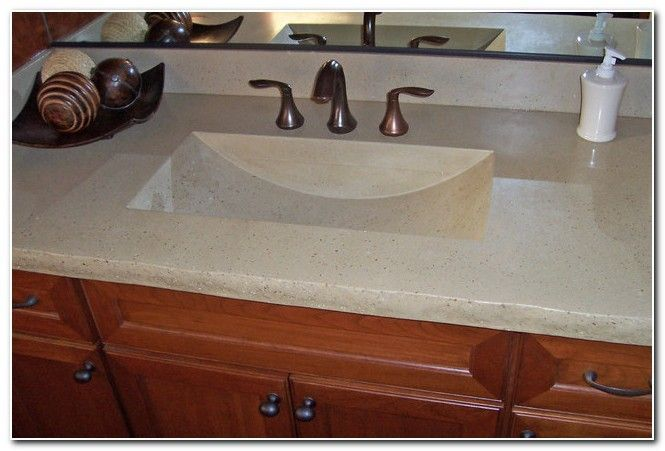 Countertops With Built In Sink Bathroom Sink And Faucet Home