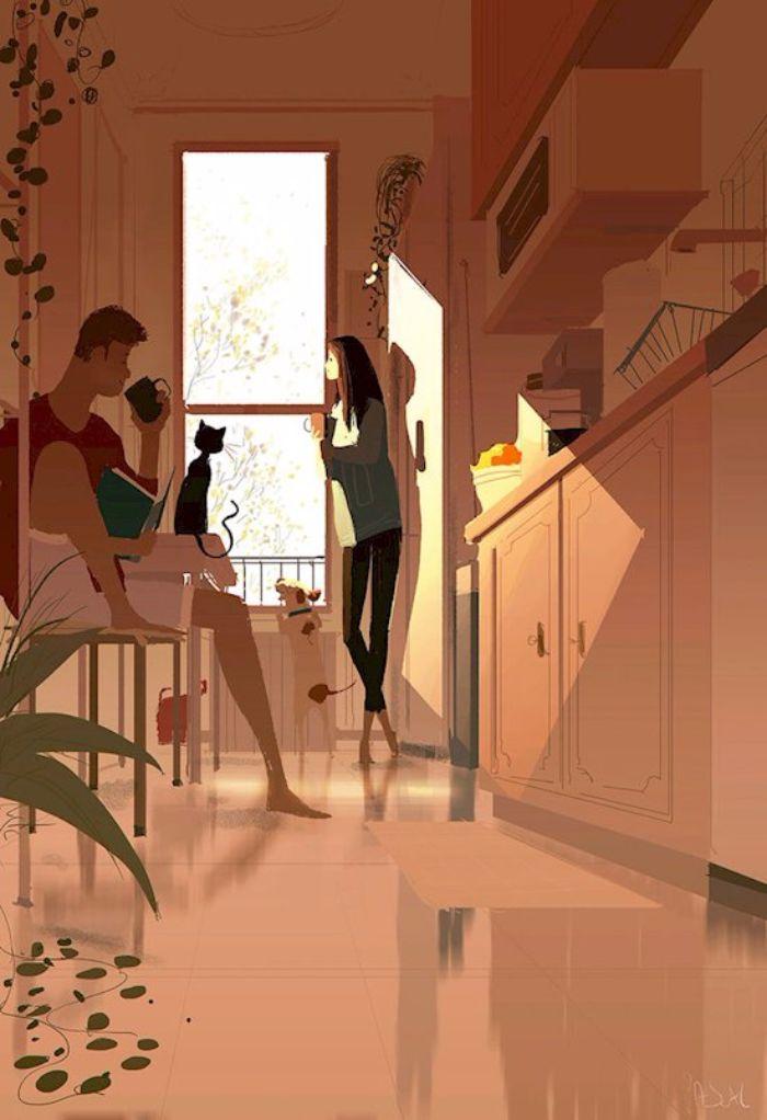 A quoi ressemble un couple heureux ? Réponse en 16 dessins qui mettent le bonheur à portée de main !