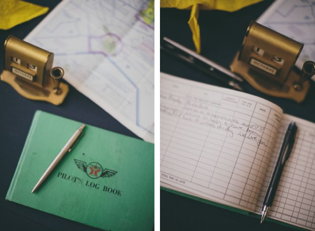 Erin and Matt's Wedding - Pilot's Log Book aka their guest book