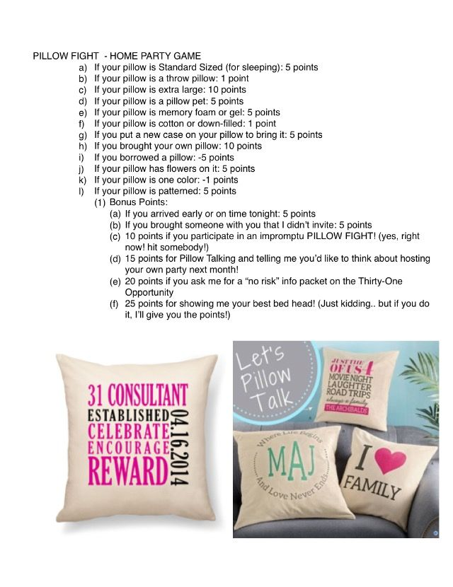 Pillow Fight Game Ideas: 76 best Thirty One Games images on Pinterest   Thirty one games    ,