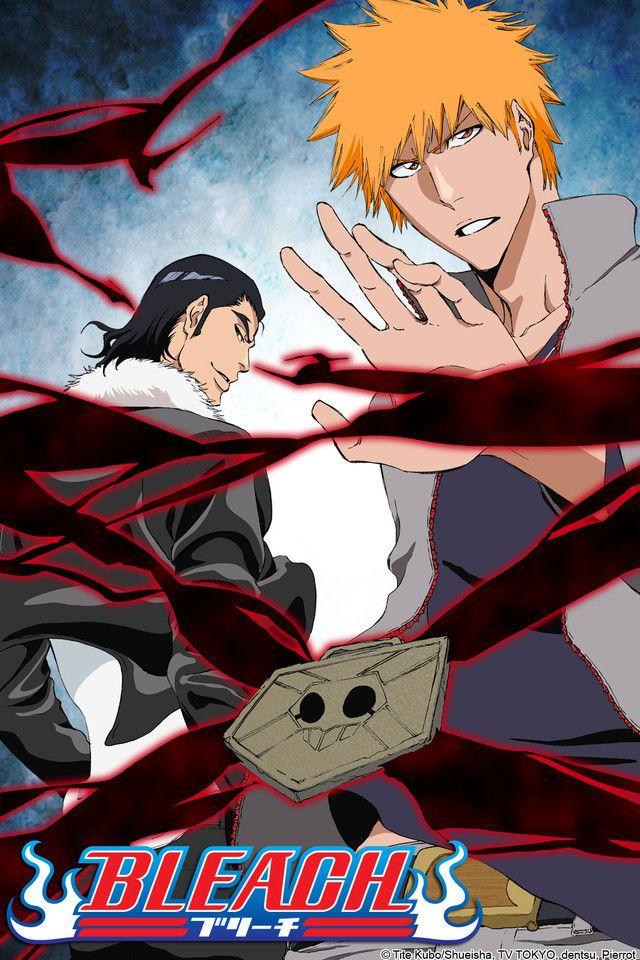Bleach  BLEACH follows the story of Ichigo Kurosaki. When Ichigo meets Rukia he finds his life is changed forever.