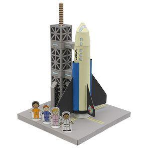 Papercraft imprimibel y armable del Transbordador espacial / Shuttle. Manualidades a Raudales.