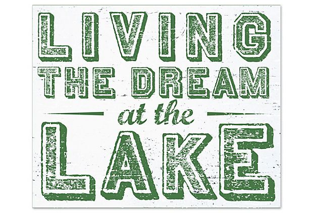 Living the Dream at the Lake, Green on OneKingsLane.com