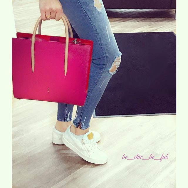 'For mot Louboutin Paloma medium  totebag in Rosa colour....this summer must have...💕 #bag by @louboutinworld #paloma #sneakers @giuseppezanottidesign  #jeans @zara #zara  #christianlouboutin  #love #bags #fashion #fashiondiaries #blogger #pink #cute  #instafashion #instagood #look #lotd  #happy #saturday #style #luxury #life #lifestyle  #photography #ootd #photooftheday #picoftheday #musthave #wiwt' by @be_chic_be_fab.  #cars #car #carporn #watches #carswithoutlimits #watch #designer…
