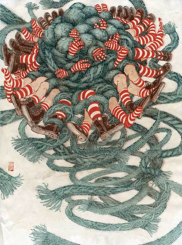 Blow Up series by Yuko Shimizu, via Behance