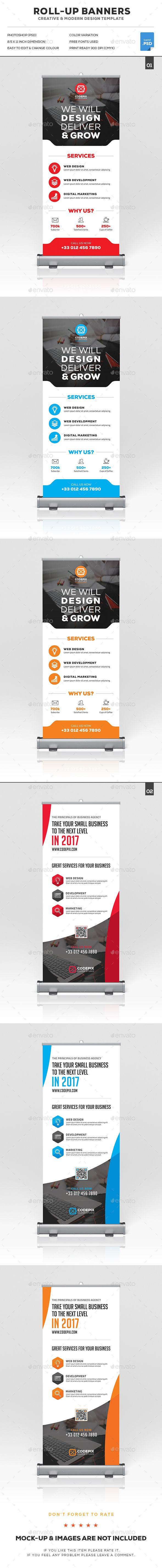 Corporate Roll-Up Banner Bundle Templates PSD. Download here: http://graphicriver.net/item/corporate-rollup-banner-bundle/16918373?ref=ksioks