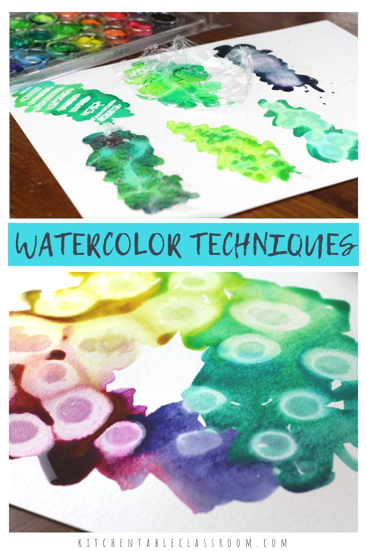 Watercolor For Kids 9 Watercolor Techniques For Any Age Kids