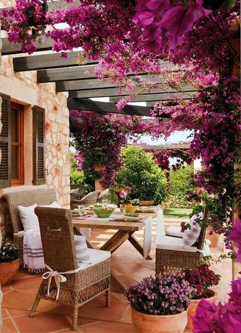 Relajante y colorido espacio