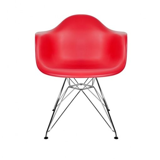 Charles Eames Style DAR Red Dining Chair
