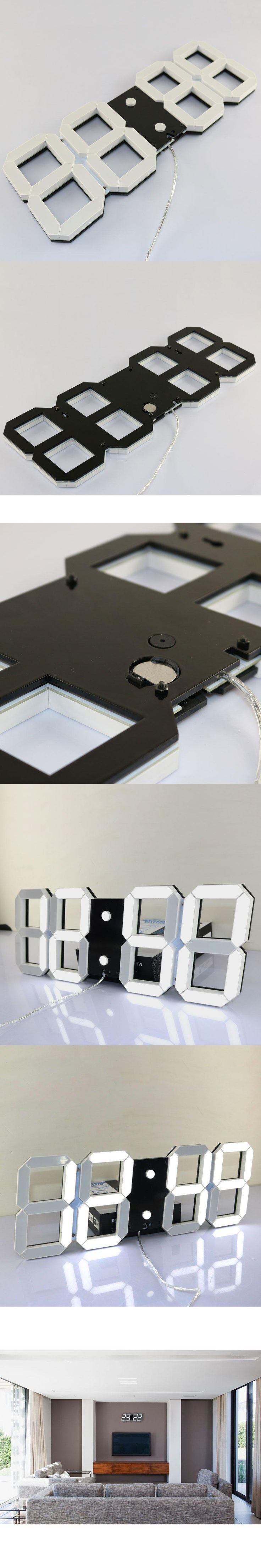 Super Large Digital Wall Clocks LED Alarm Clock Countdown Timer Remote Control Oversize Jumbo Number LED Display Snooze