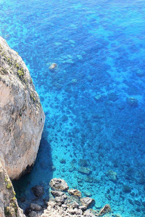Turquoise waters of Zakynthos, Greece