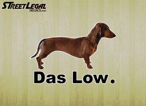 "Das Low 5½"" Dachshund Vinyl Decal"