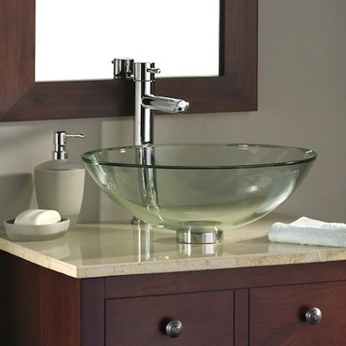 glass bowl sink explodes bathroom vessel installation basin