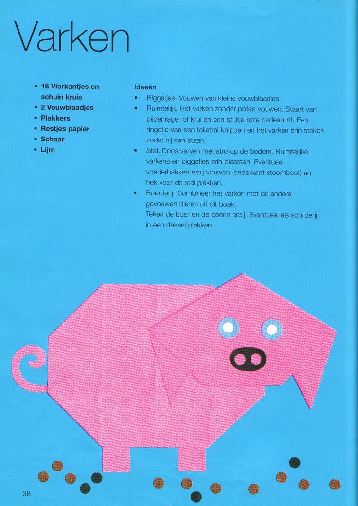 Vouwen 2d: varken