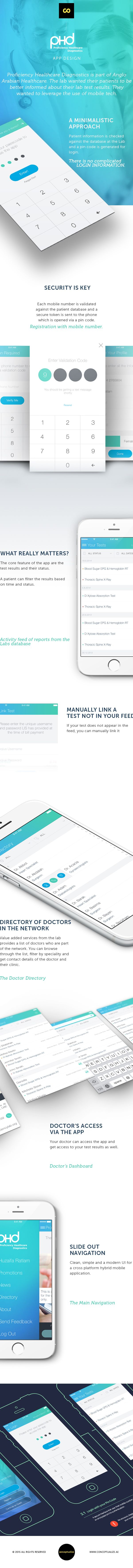 A iOS and Android mobile app for PHD Labs, a Dubai based Laboratory