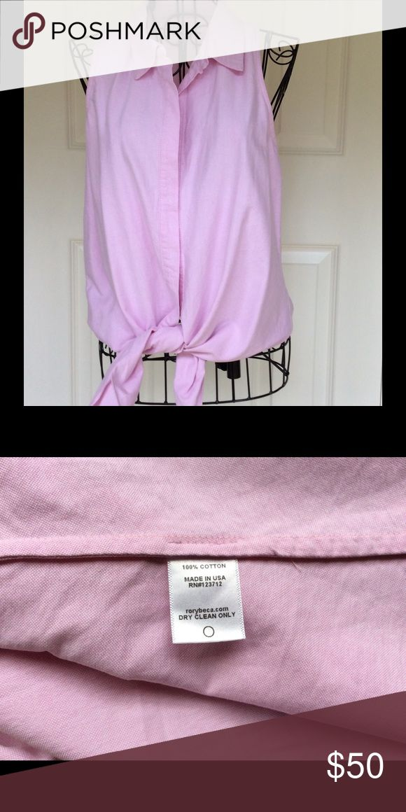 RoryBeca Pink Top Pink top by Rory Beca. 100% cotton. Top tag is missing because it was itching me, but interior tag shows brand (see pic). Rory Beca Tops Blouses