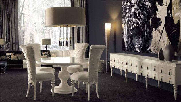Дизайн интерьера в стиле ар-деко/арт-деко. #дизайн #интерьер #стиль #ардеко #артдеко #дизайнер #столовая