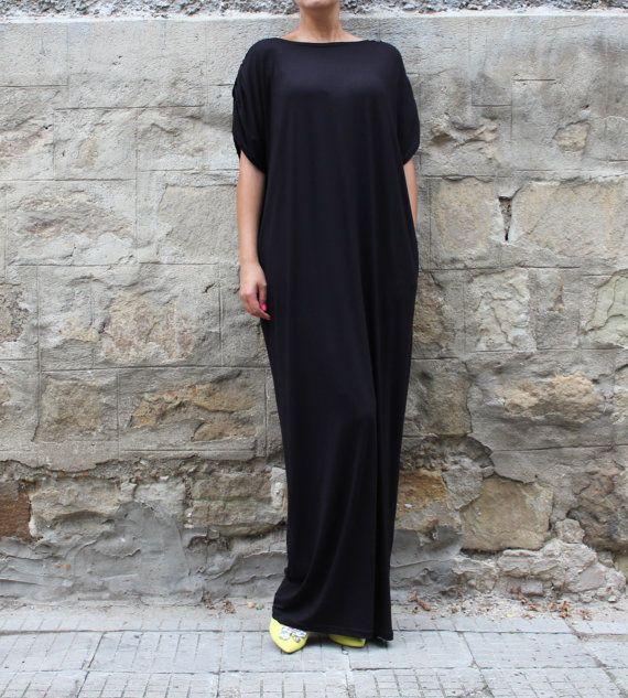 Black Backless dress Maxi Dress Caftan от cherryblossomsdress