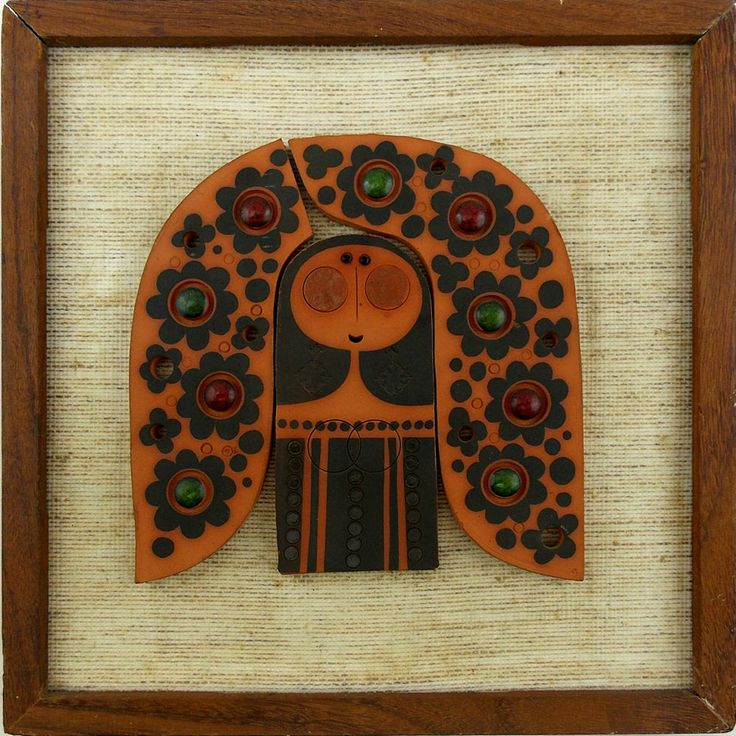 Astounding Rare MURAMIC Handcrafted HORNSEA Pottery Woman Wall Tile - QI B66 5/2014 cost $8