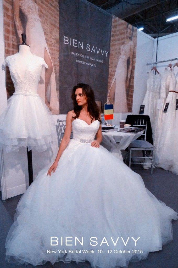Wedding dress Addicted to Moon, 2016 bridal collection Addicted to Love by BIEN SAVVY, @ New York Bridal Week, October 10 - 12 th, 2015