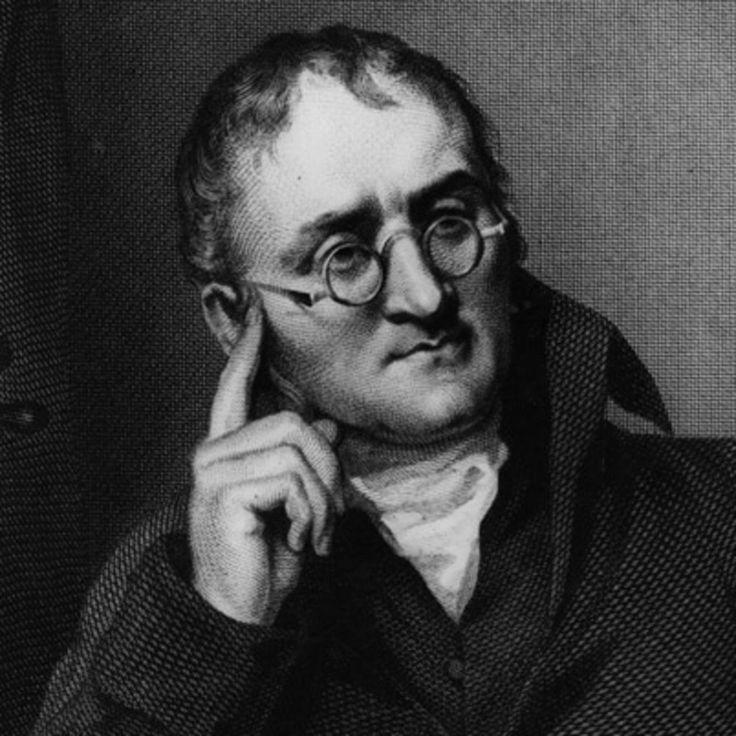 John Dalton (1766-1844)  Ses nombreux travaux, même s'ils contiennent quelques erreurs, sont à la base de la théorie atomique actuelle