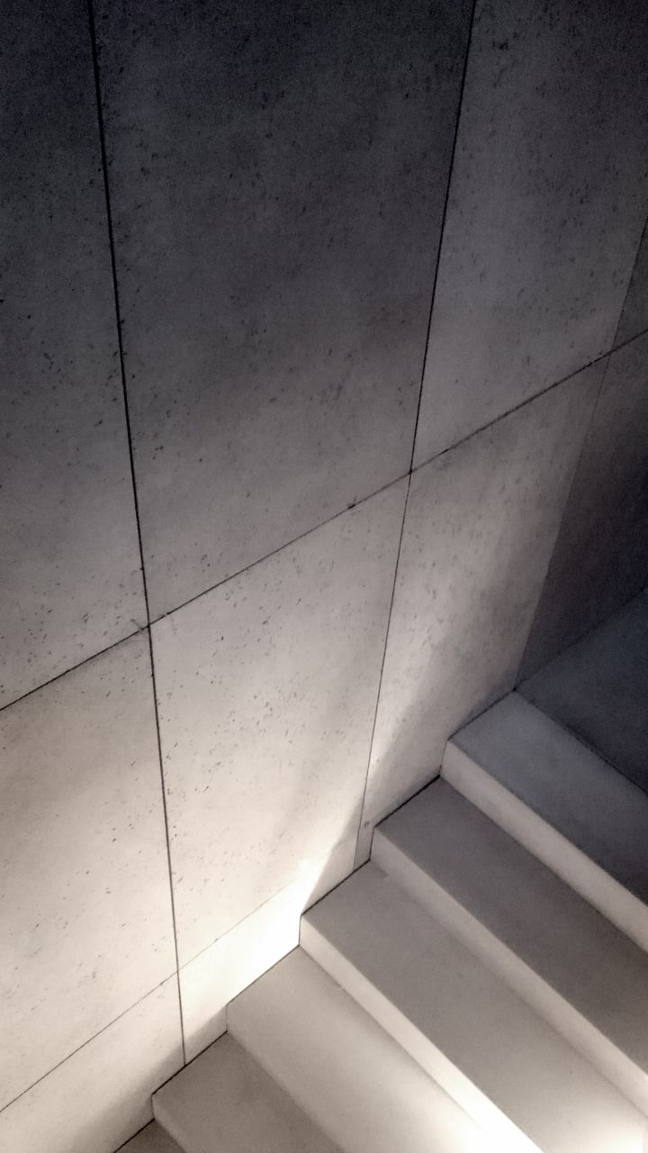 architectural concrete: precast steps and concrete wall panels