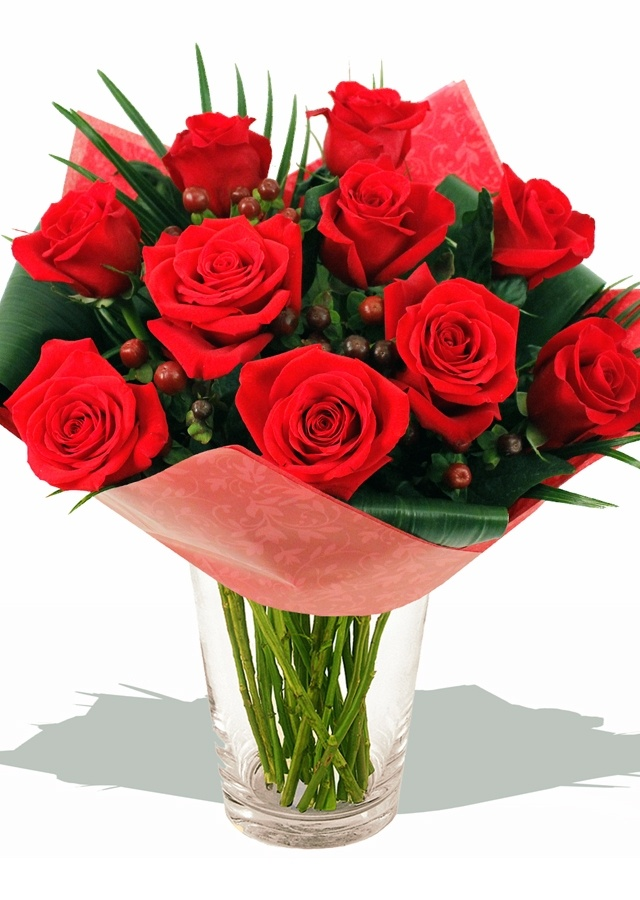 Flowers - Hedgerow Hand-tied (Roses), a beautiful bouquet of red roses from http://www.eden4flowers.co.uk/