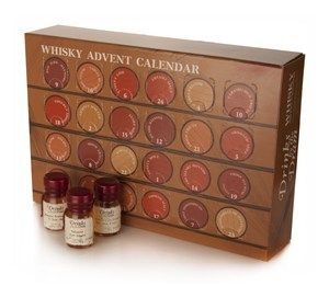 When the holidays are just too rough for him, he can enjoy his own advent calendar....with whisky!  This Whisky Advent Calendar looks pretty neat.