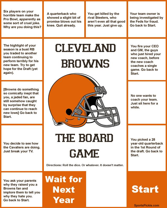 Cleveland Browns: The Board Game! - SportsPickle | SportsPickle