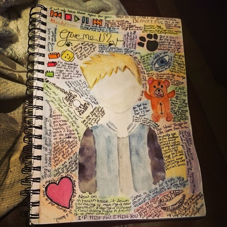 A Blog For All Things Crafty: Ed Sheeran art journaling page