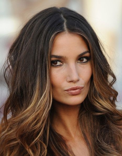 Ombre Brunette hair hairstyle wavy longhair trend ombrehair