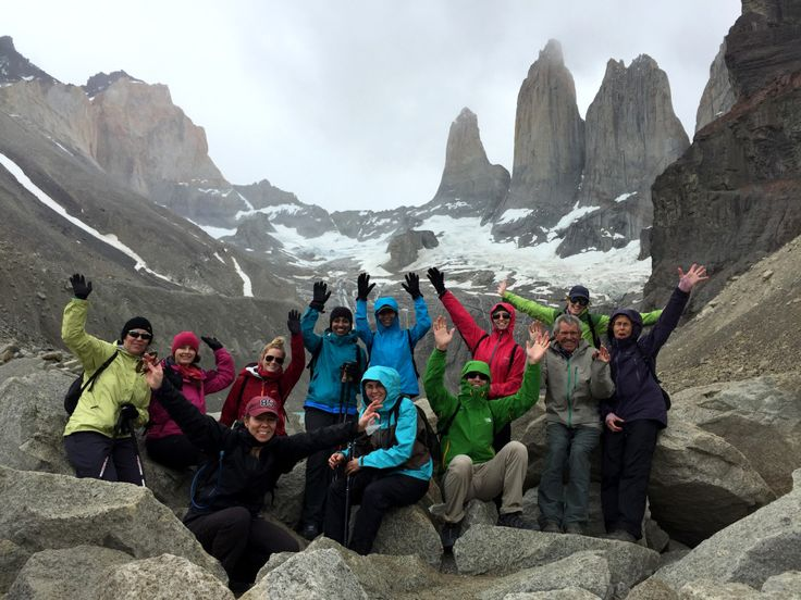 9. Rosey and her group celebrating in Torres Del Paine National Park, Condor trip.