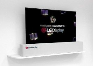 LG OLED screen flexible folding size 65 inch