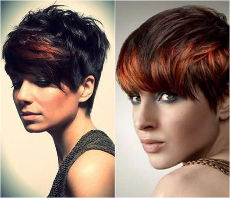 Pixie haircut with bangs 9