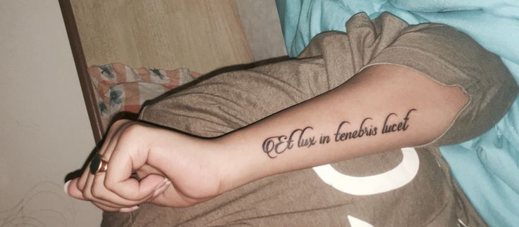 Newest tattoo et lux in tenebris lucet and the light for Lux in tenebris tattoo