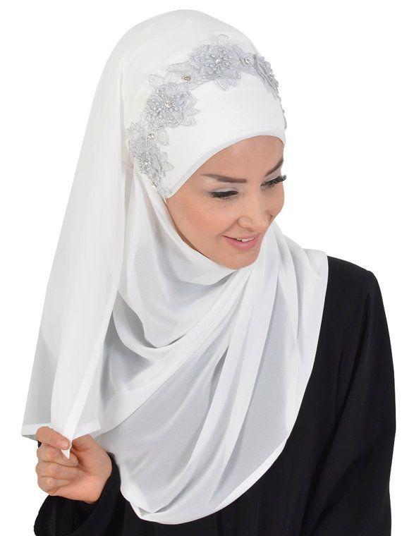 Chiffon Express Hijab Code:CPS-0011 Muslim Women by HAZIRTURBAN