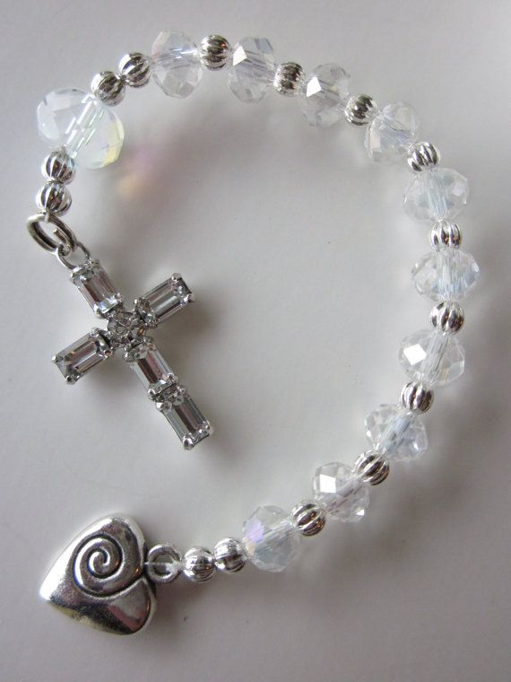 Crystal Chaplet Decade Rosary by RagtimeAngel on Etsy, $14.00