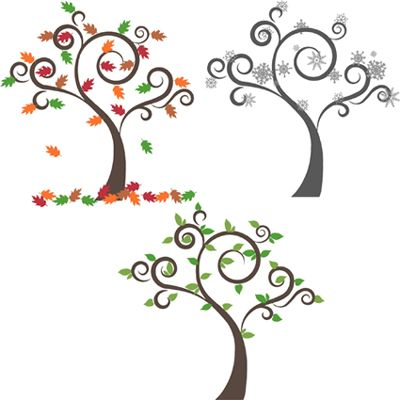 Choose between our Winter, Summer, or Autumn Tree choice! We offer extra leaf and snowflake color options for those who want an extra splash of color on their tree!Autumn tree shown with garnet and optional colors latte and yellow green. Summer tree shown with yellow green and optional kermit green. Winter tree is sho...