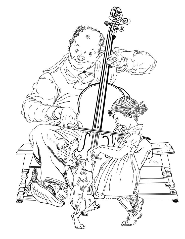 norman rockwell coloring pages - photo#9