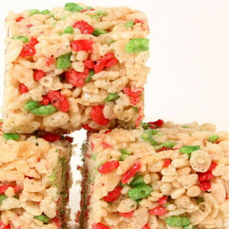 An Easy recipe for festive rice krispie treats, These are a fun holiday treat that everyone will enjoy.