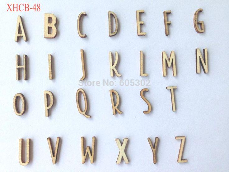 Бесплатная Доставка 260 шт. деревянные буквы для украшения, Home Decor letras em mdf DIY Скрапбукинг letras ет мадейра Ремесел