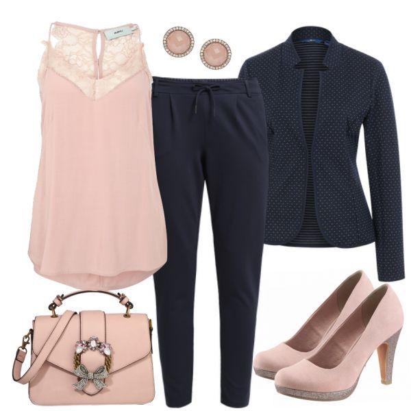 Abend Outfits: Abendlich bei FrauenOutfits.de ___ #abendoutfit #besondereranlass #essengehen #restaurant #date #geburtstagsoutfit #party #outfitinspiration #outfit #mode #frauenmode #damenmode #blazer #top #pumps #highheel