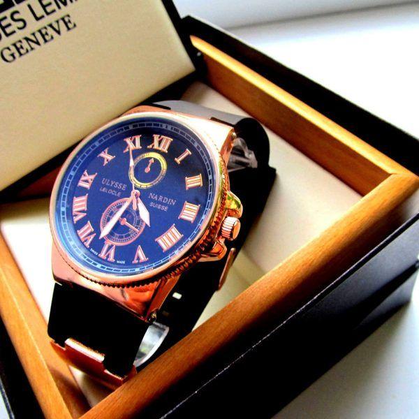Наручные часы мужские Ulysse Nardin классика черные