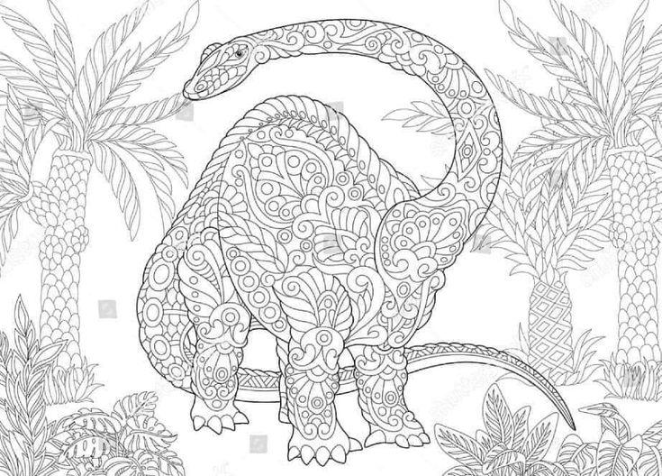 pin on dinosaurios mandalas