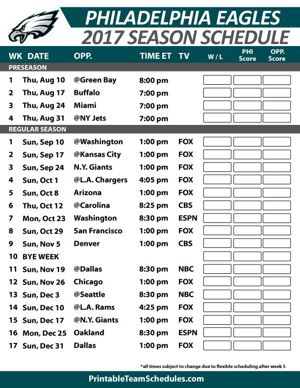 39 best NFL Football Schedule 2017 images on Pinterest